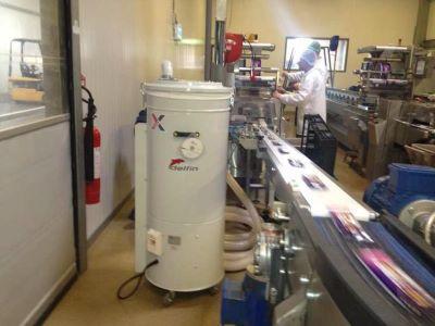 Industriele stofzuiger Delfin verpakkingsindustrie