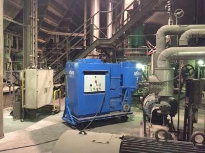 Industrielestofzuiger staalfabriek